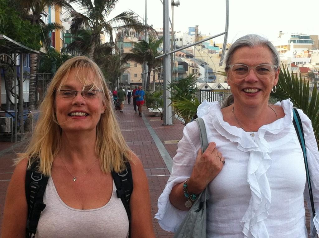 Annika Elgeskog och Helena Ström, som jag träffade på Content Bootcamp i Las Palmas i nov 2014