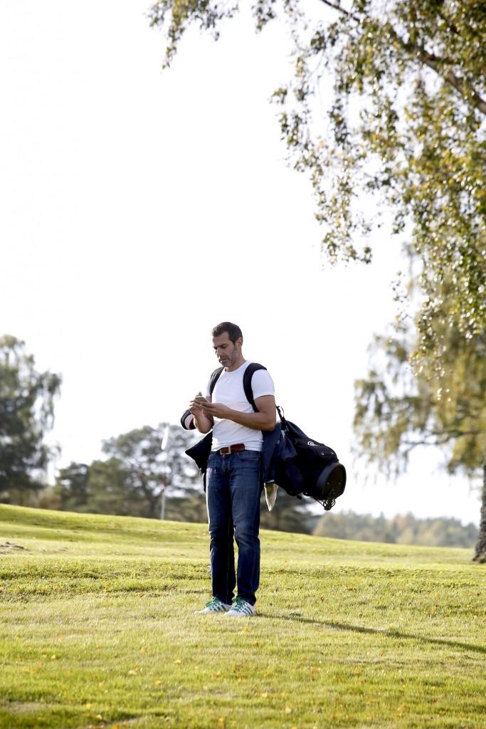 Lillis Sidén med sin golfapp